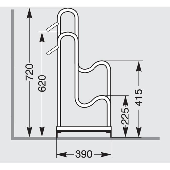 Radsport Fahrradständer & Aufbewahrung Fahrradständer 4053BR 1170mm BALLOONFahrradStandparker3 Stellplätze