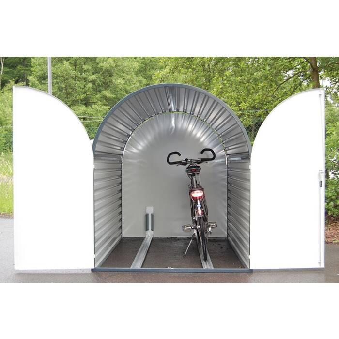 fahrradgarage fahrradbox classy duo f r 2 fahrr der 2050 x 1500 x 1740 mm komplett montiert. Black Bedroom Furniture Sets. Home Design Ideas